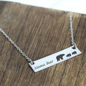 Jewelry - Mama bear necklace with 2 cubs